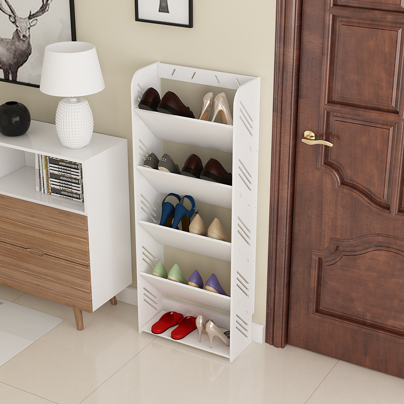 Simple Shoe Rack Home Multi Layer Shoe Cabinet Living Room Simple  European Style Carved Dust Proof Economy Dormitory Group Equipment Rack