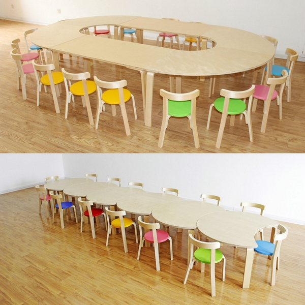 Kindergarten Desk And Chair Solid Wood Nursery Table Chairs Training Early Childhood Children S