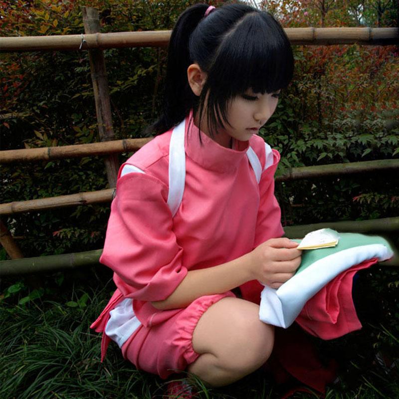 Hayao Miyazaki Surrounding Spirited Away Ogino Chihiro Anime Cosplay Costume Full Set Of Clothes For Girls
