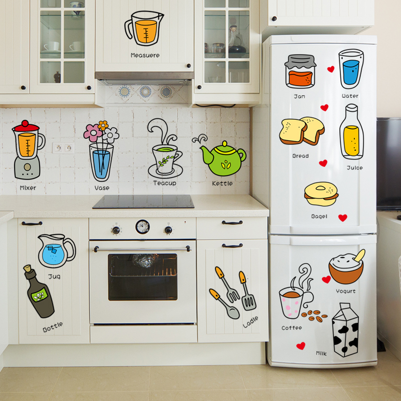 Usd 5 20 Creative Refrigerator Stickers Kitchen Cabinet