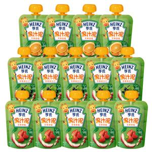 <i>【送6袋果泥】</i>亨氏小绿水果泥*14袋