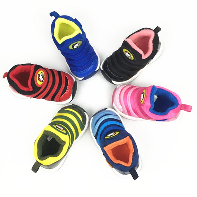 阿福贝贝童鞋冬款加绒毛毛虫棉鞋机能鞋宝宝软底学步鞋1-4岁A6556