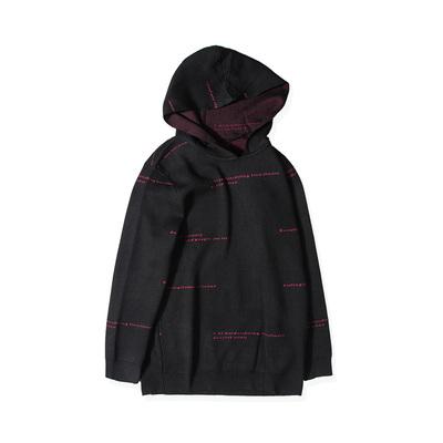 Weaver triều thương hiệu kích thước lớn nam mùa thu và mùa đông áo len trùm đầu áo len áo len nam lỏng lẻo áo khoác dài tay - Hàng dệt kim