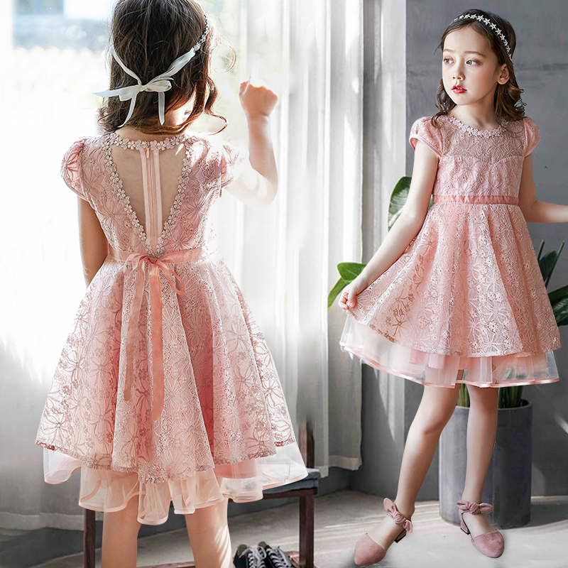 9ca5df32755 Girls dress Summer 2018 new Korean fashion spring and autumn girls skirt  Big children princess dress