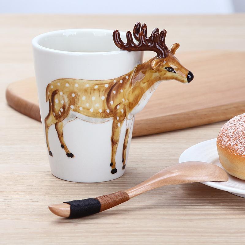 趣玩3d立体陶瓷杯创意动物马克杯大容量家用个性水杯情侣杯子礼物