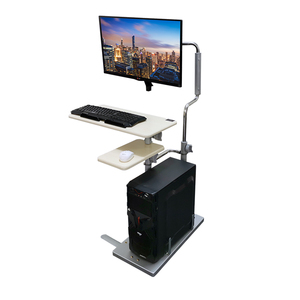 物联床边台式电脑桌家用折叠升降桌懒人桌简易电脑桌移动升降支架