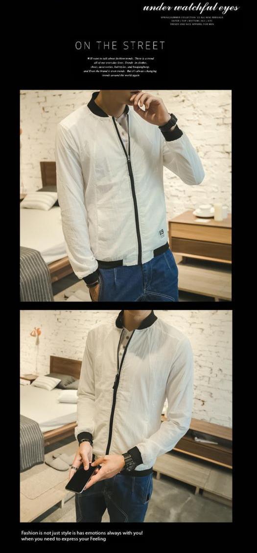 [Full 59] 2018 mùa hè mới junior sinh viên triều mặt trời bảo vệ quần áo đứng cổ áo xu hướng giản dị áo khoác