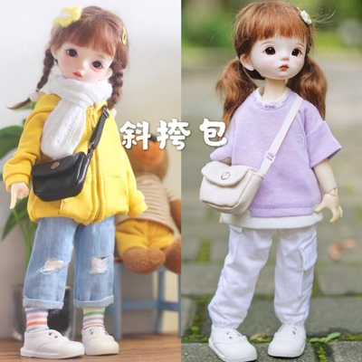 taobao agent BJD doll 6 points blythe15/20cm4 points doll baby clothes accessories photo props accessories messenger bag school bag