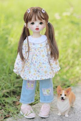 taobao agent Free shipping Spring outing season BJD 6 points 1/6 yosd doll clothes floral doll shirt shirt top