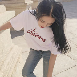 White loose t-shirt short-sleeved women summer 2017 new Han Fan ulzzang shirt large size t-shirt female short-sleeved