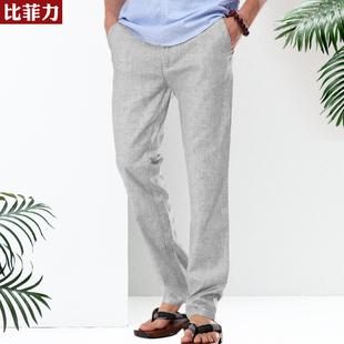 【聚划算】比菲力男士亚麻裤中国风男装