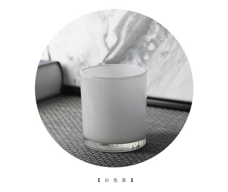 熱銷#簡約黑白透明玻璃DIY香薰蠟燭杯浪漫燭光裝飾擺設情人表白蠟燭臺#燭臺#裝飾