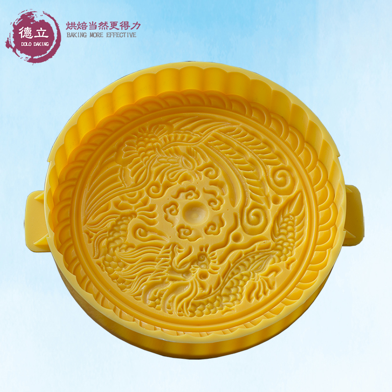 f22c0f9dd Half 1 2 3 pounds hand pressure type extra large moon cake mold Dragon and  Phoenix Moon Moon Cake bag Adjustable Thickness
