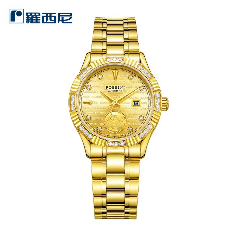 羅西尼新款手表女 自動機械日歷女表商務休閑時尚女士腕表8706
