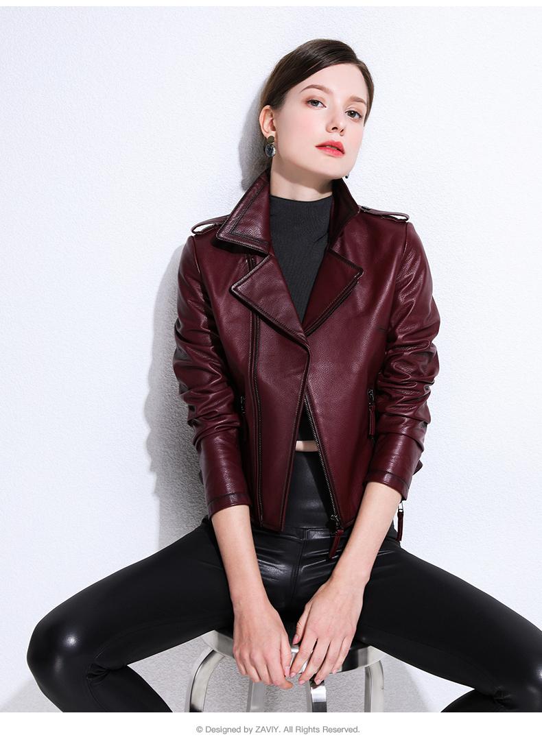 European and American fashion 2020 spring and autumn new Henning sheepskin bodysuit jacket jacket leather woman 57 Online shopping Bangladesh