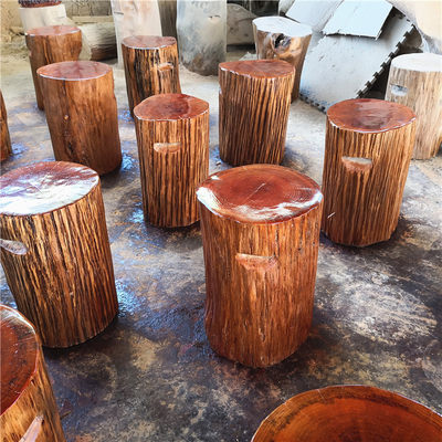 Wooden pier log wood stump stool stool round wooden root carving stool tea table with stool wooden pier plate bracket