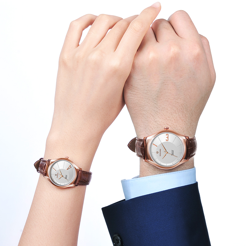 雷诺1314情侣手表,免费刻字情人节礼物