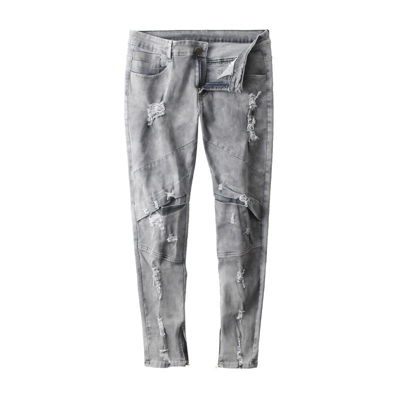 Goedkope Slim Jeans - Grijs - verkrijgbaar in maat L t/m XXL- voor heren