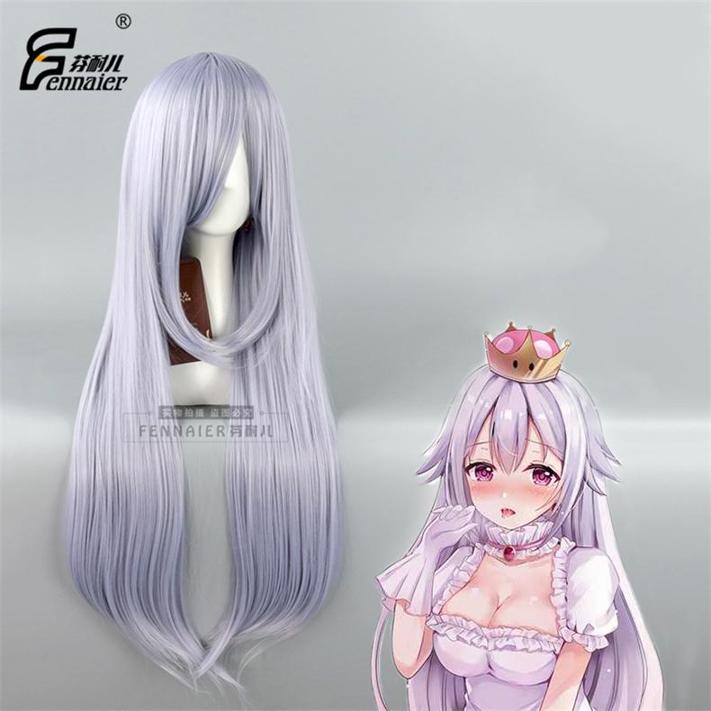 芬耐儿 幽灵姬公主 娘化反派 cosplay混浅紫色长直发女款假发C112