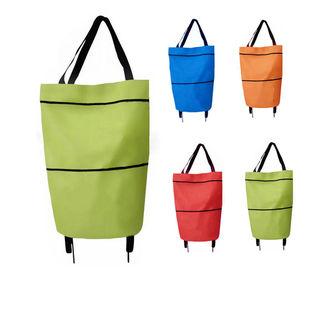 【大容量】可折叠带轮便携超市购物袋
