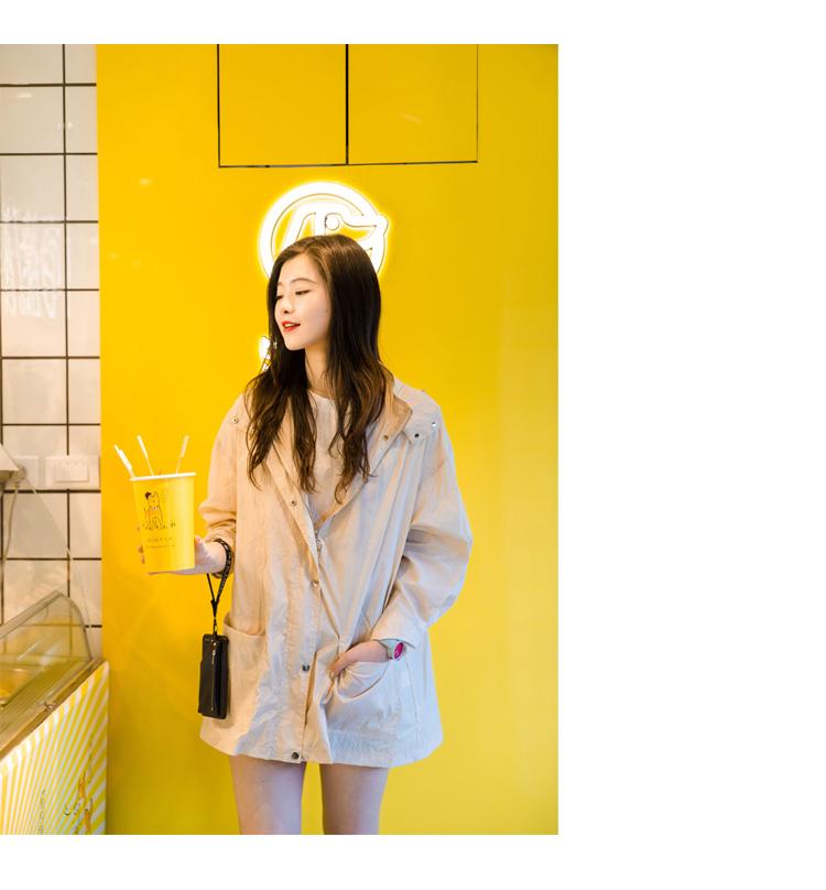 Anne mèo du lịch của phụ nữ mùa xuân và mùa hè Hàn Quốc phiên bản của ánh sáng trùm đầu ngoài trời kem chống nắng áo gió hoang dã áo khoác thoáng khí Xin anh em đi xe thủy triều