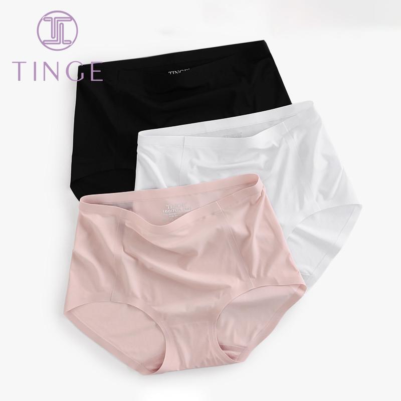 TINGE3 băng lụa cảm thấy không có dấu vết giữa eo cao quần lót nữ quần boxer quần cotton đáy quần gợi cảm của phụ nữ - Võ sĩ quyền Anh