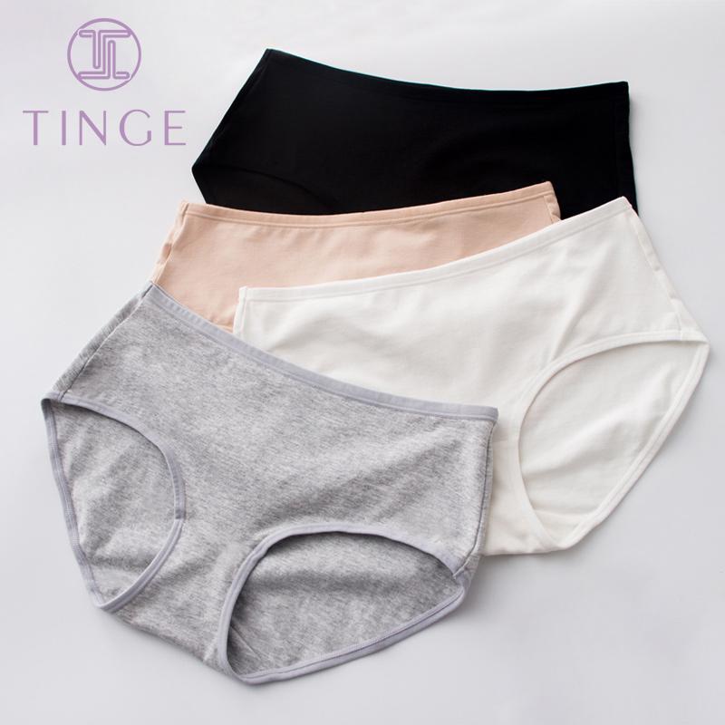 4 quần cotton chải kỹ màu mỏng phụ nữ mỏng thoáng khí gợi cảm giữa eo bụng nâng hông không có dấu vết phụ nữ ngắn gọn - Cặp đôi
