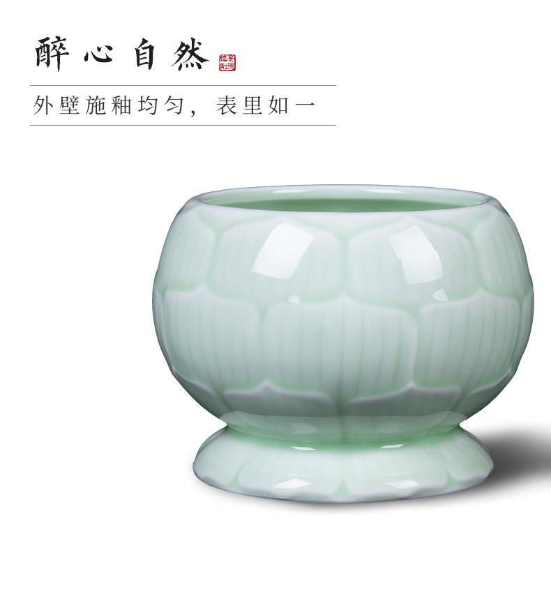 Jingdezhen ceramic temperature wine pot of wine suit green glaze hot hot wine warm hip home wine and rice wine liquor cup