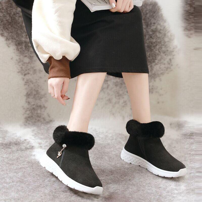 大漏冻【拍2件】辰米街拍女鞋短筒雪地靴女