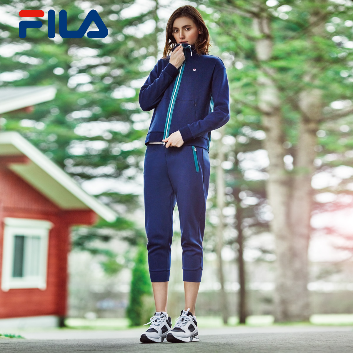 0e9933523066 USD 205.89  Grab FILA Fei Le autumn new high-rise shoes female shock ...
