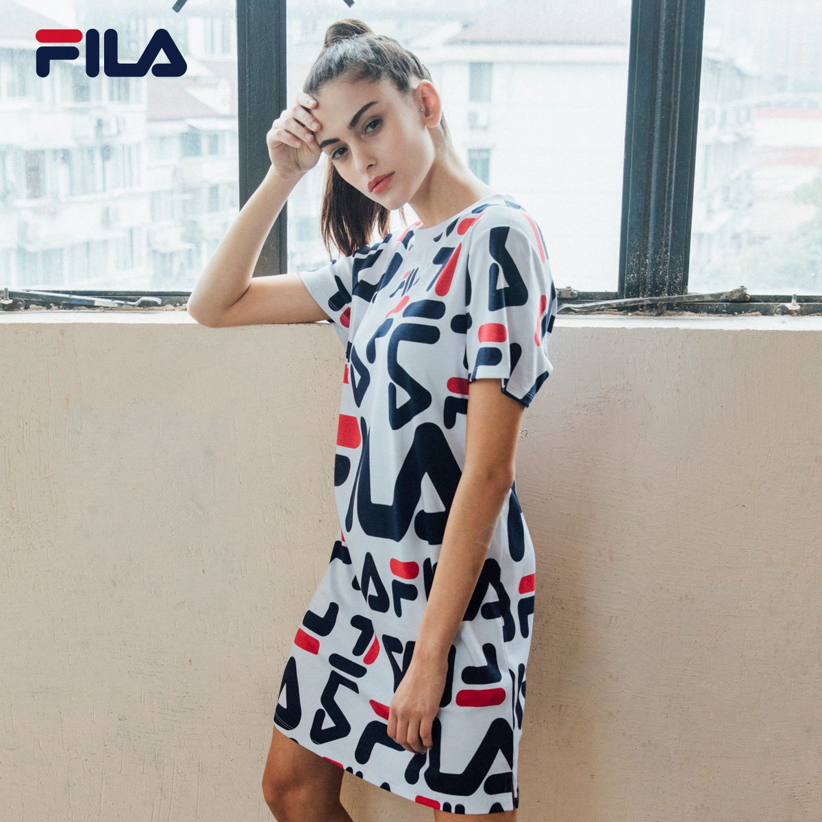 fcdf55e08751 USD 154.11  FILA Fila female dress 2019 spring sports and leisure ...