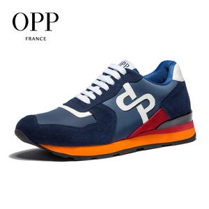 OPP男鞋春夏真皮时尚运动休闲鞋情侣同款百搭户外大码男士旅游鞋