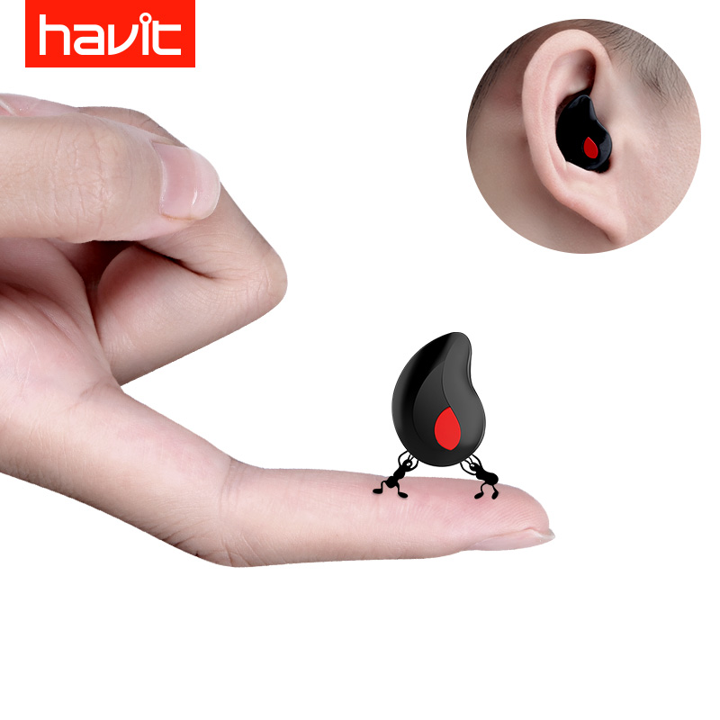 Havit / Haiweite I3S Bluetooth headset invisible mini ultra-small sports wireless in-ear plug driving micro-small headset wolves vivo apple single ear oppo long standby mobile phone