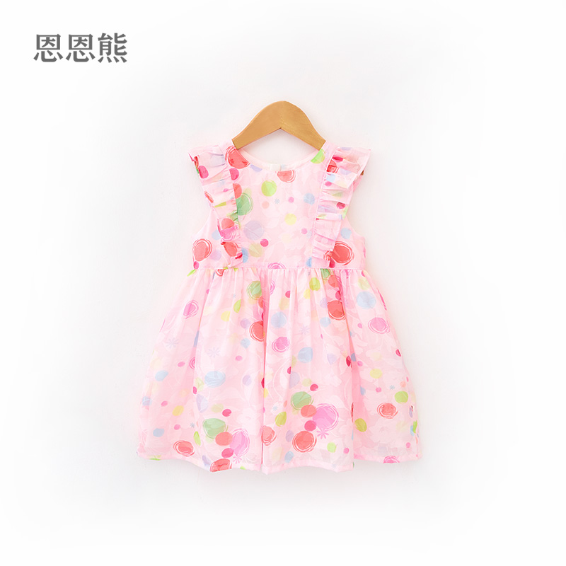 Girls Western summer dress skirt princess dress infant children 2019 summer New grace bear female baby Korean skirt