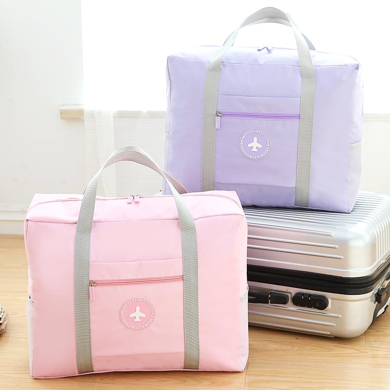 Chanh hoa túi hành lý quần áo túi gấp túi xách vai túi du lịch không thấm nước lưu trữ quần áo túi hành lý túi