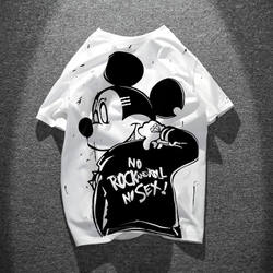 Original American cartoon mouse round neck couple short-sleeved t-shirt lovers short-sleeve summer influx of short-sleeved t-shirt men