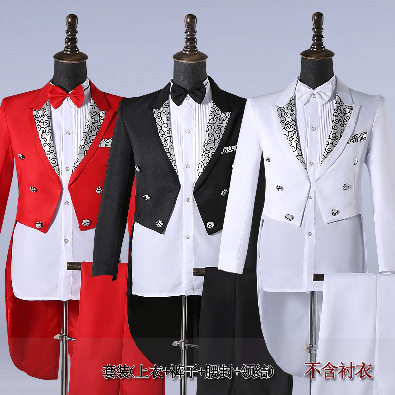 c51f04df12e 남자 드레스 턱시도 마법의 성능 의상 코러스 의상 최고의 남자 드레스 춤 의류와 함께 제공
