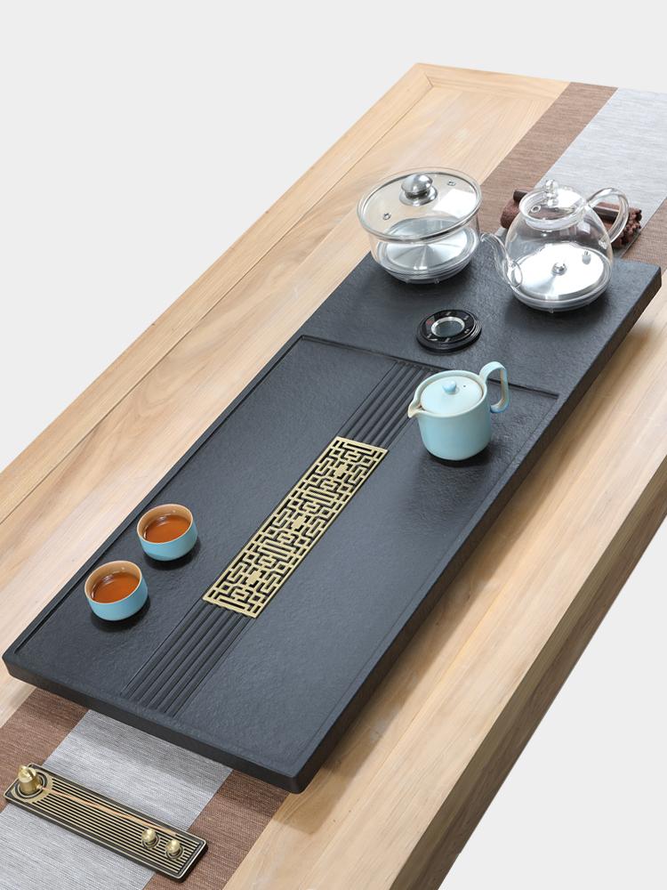 Wu Jinshi tea tray set Automatic water tea table Kettle One-piece induction cooker Kung Fu tea household tea sea