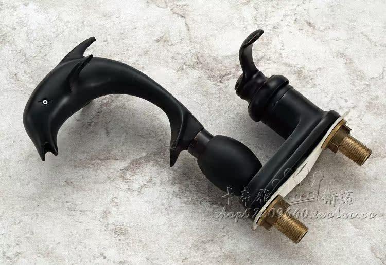 Shop Classic High Spout Oil Rubbed Bronze Bathroom Faucet: Oil Rubbed Bronze Bathroom Basin Faucet Dolphin Shape