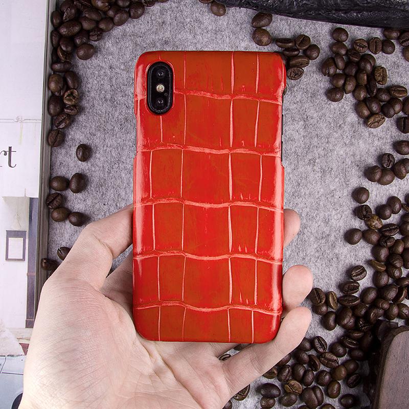友为 iphonex/7/8plus鳄鱼肚皮手机壳苹果8/7皮套手工定制手机套