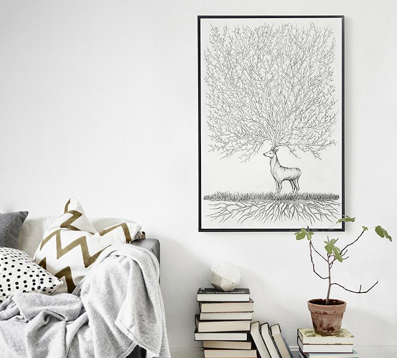 """打破沉闷,抽象美画撩白墙"""""""