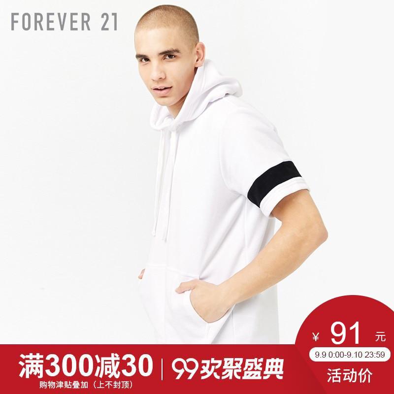 Forever21 mùa xuân và mùa hè 2018 người đàn ông mới của bông tương phản sọc áo len trùm đầu