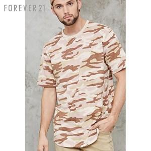 Quần cotton nam giới ngụy trang in áo thun ngắn tay áo Forever21