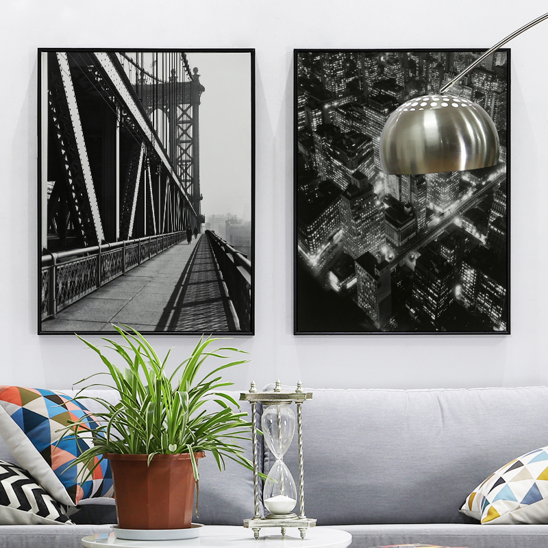 Clic Black And White City Photography Living Room Decorative Painting Entrance Paintings Modern Minimalist Office Murals
