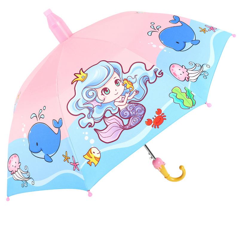 儿童雨伞宝宝幼儿园可爱超轻便小孩小学生男童女童全自动公主小伞