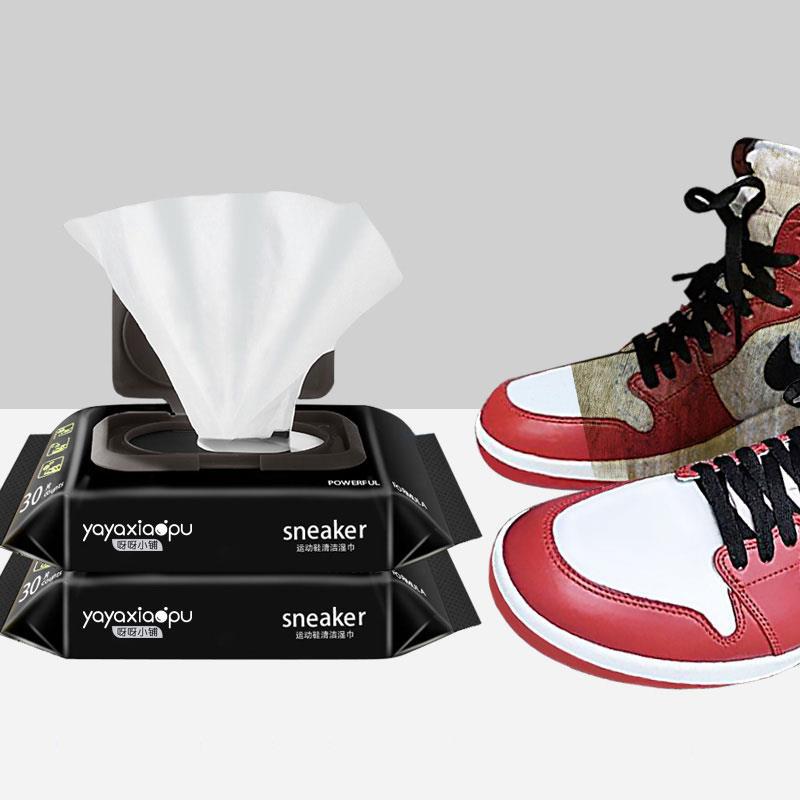 拍一发二包!!黑科技免洗去污擦鞋湿巾1包
