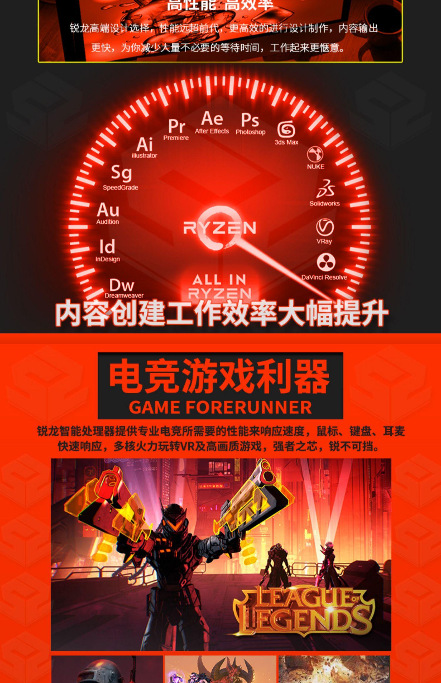 AMD锐龙R5 3600/3600X搭微星B450M MORTAR迫击炮主板CPU套装MAX商品详情图