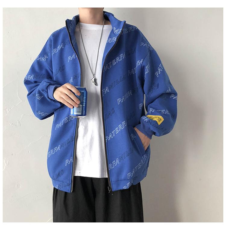 @港风 几物风秋季夹克立领宽松个性花式卫衣外套WT05-特P60-控88