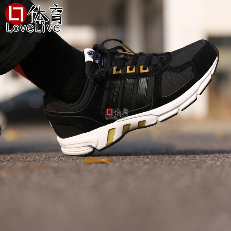 wholesale dealer 7c539 15912 Adidas equipment 10 CNY Lite EQT black gold men and women cushioning  running casual shoes BB8956