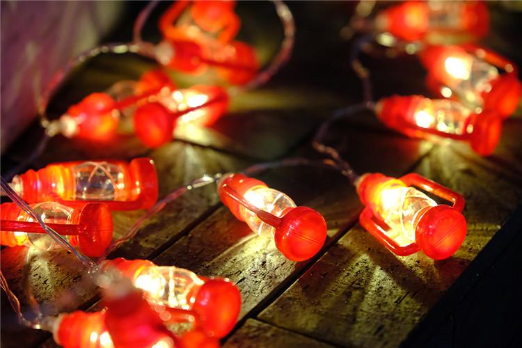 跨境LED电池创意迷你小灯笼 节日婚庆万圣节装饰灯卧室户外彩灯串